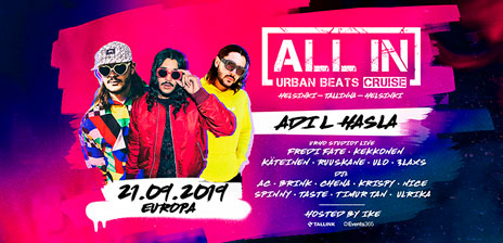 ALL IN Urban Beats Cruise Europalla 21.9.2019