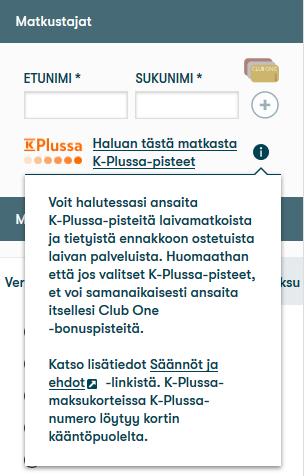 K-Plussa-pisteitä laivamatkoista - Tallink & Silja Line