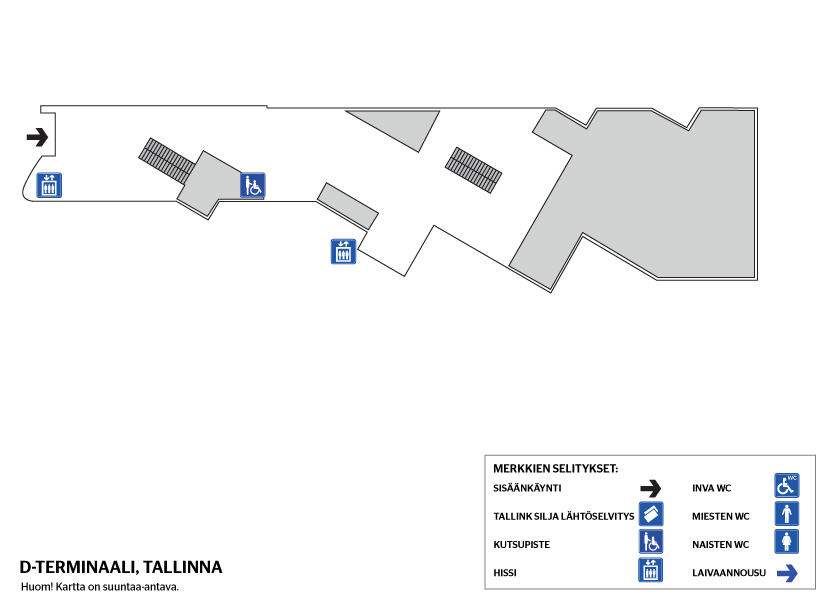 Ohjeet Terminaalissa Tallinna D Terminaali Tallink Silja Line